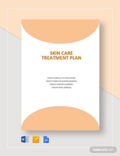 skin care treatment plan template