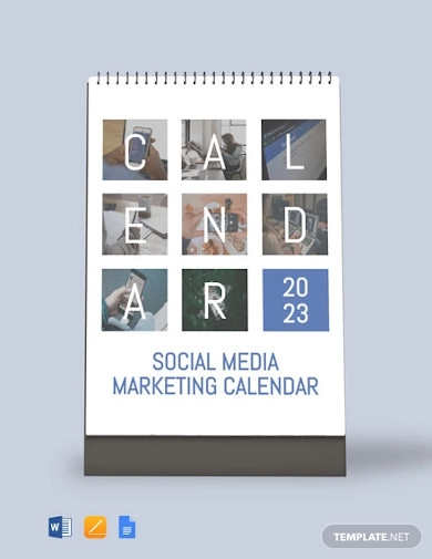 social media marketing desk calendar