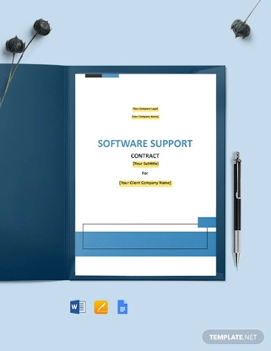software support contract example