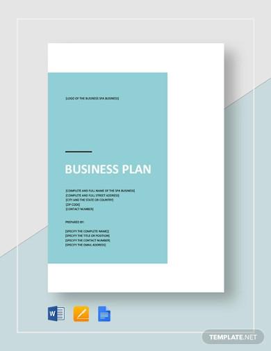 spa business plan