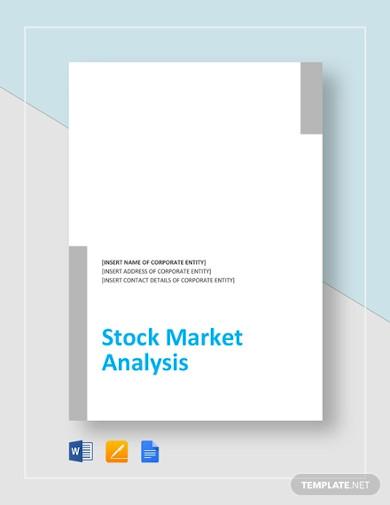 stock market analysis template