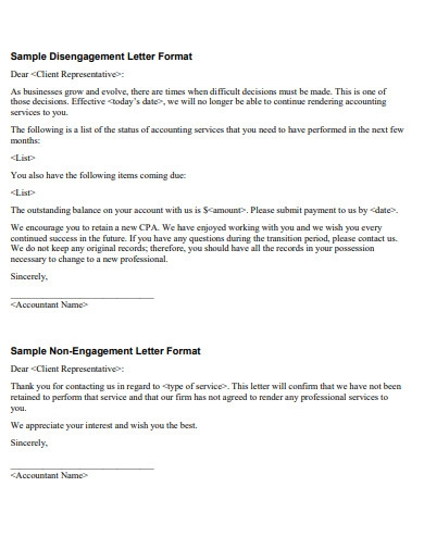 termination of services letter example