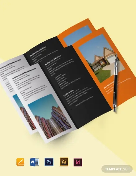 tri fold real estate and property sell brochure template