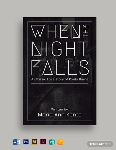 typography book cover template