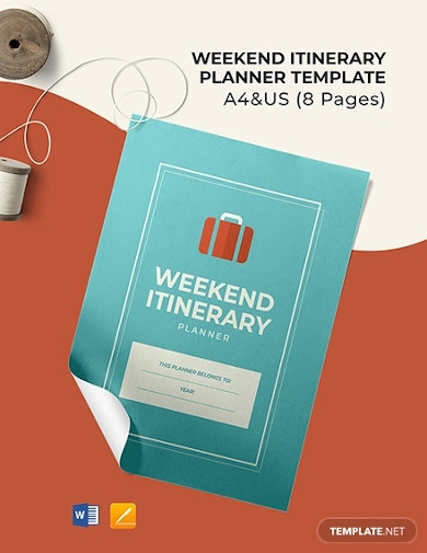 weekend itinerary planner