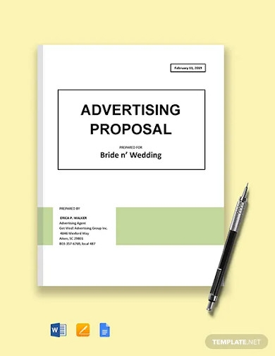 advertising campaign proposal template