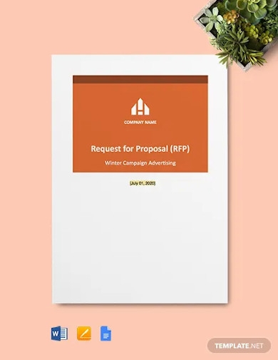 advertising request for proposal template