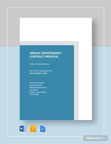 annual maintenance contract proposal