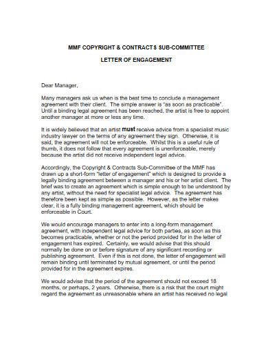 artist management contract
