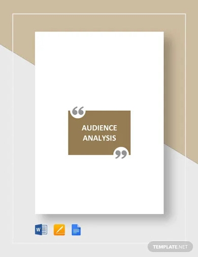 audience analysis template