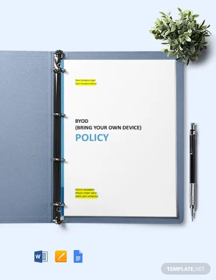 byod bring your own device policy template