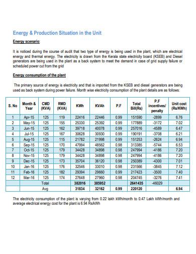 basic energy audit report