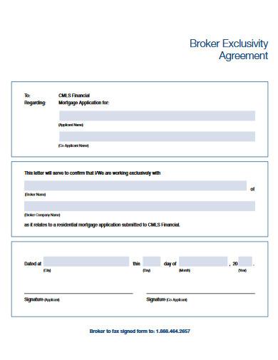 broker exclusivity agreement