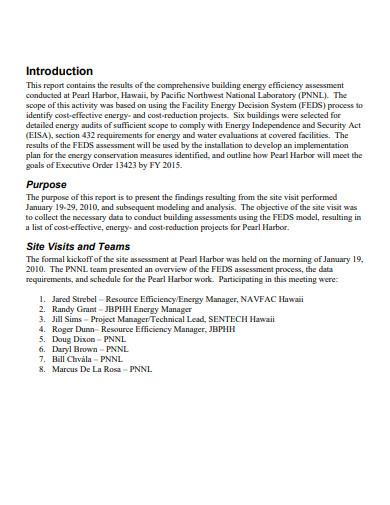 building energy audit report
