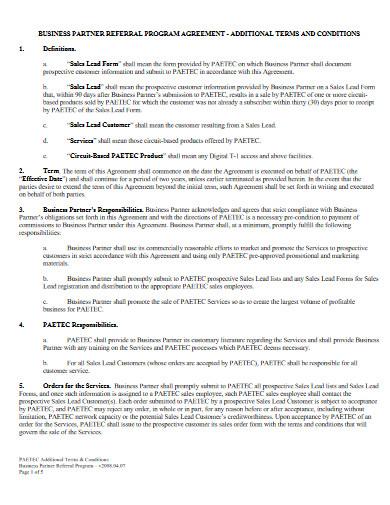 business partner referral program agreement