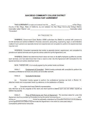 college consultant agreement
