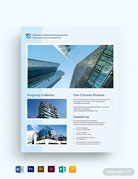 commercial real estate flyer template1