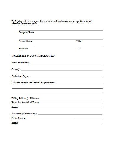 company wholesale agreement