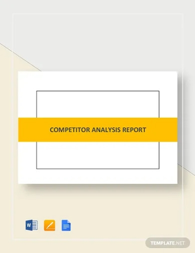 competitor analysis report template