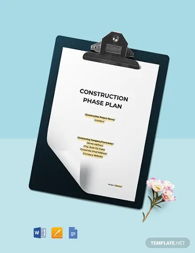construction health safety phase plan template