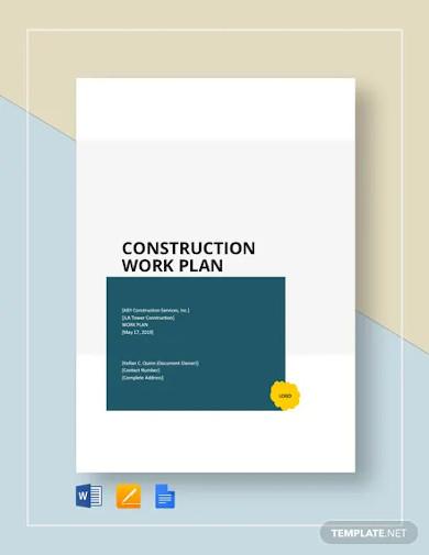 construction work plan template