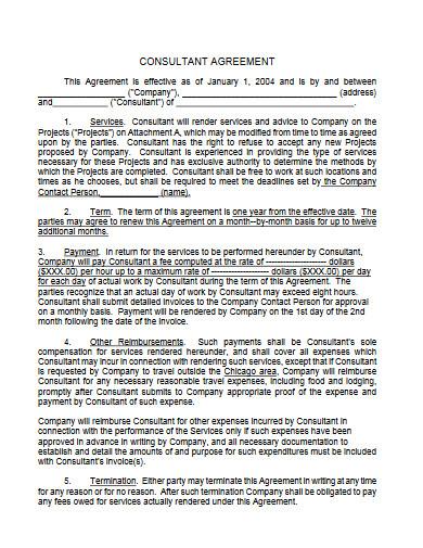 consultant agreement example