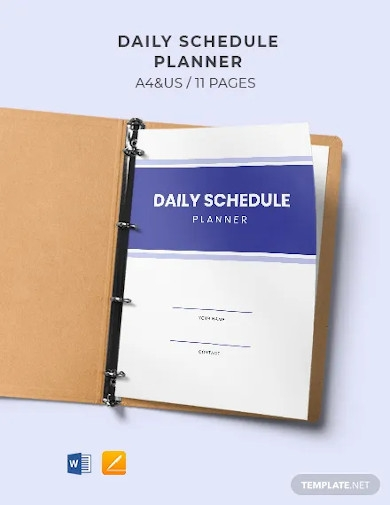 daily schedule planner and checklist template