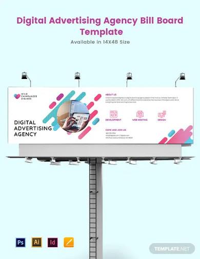 digital advertising agency billboard template