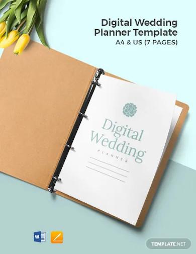 digital wedding planner template