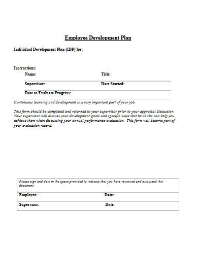 employee development plan in pdf