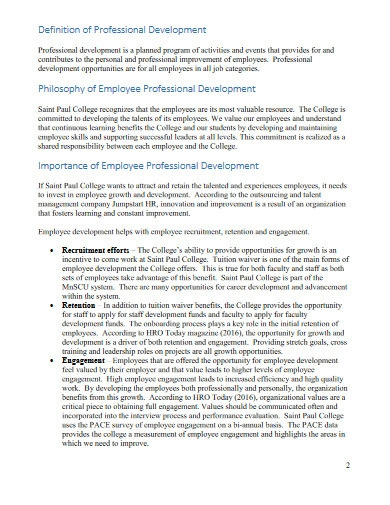 employee professional development plan