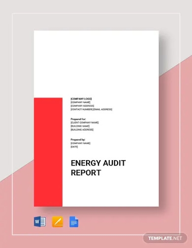 energy audit report template