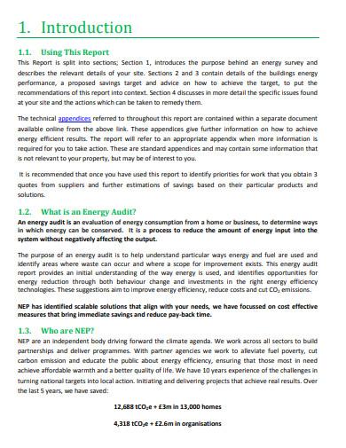 energy audit report in pdf