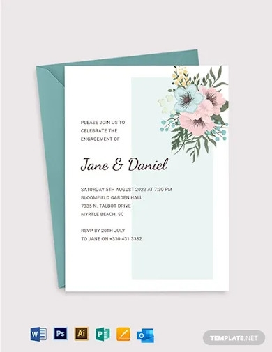 engagement ceremony invitation template