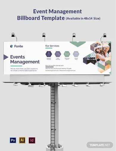 event management billboard template