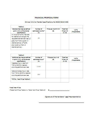 financial proposal form in pdf