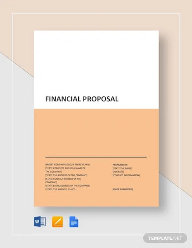 financial proposal template