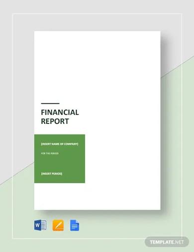 financial report template