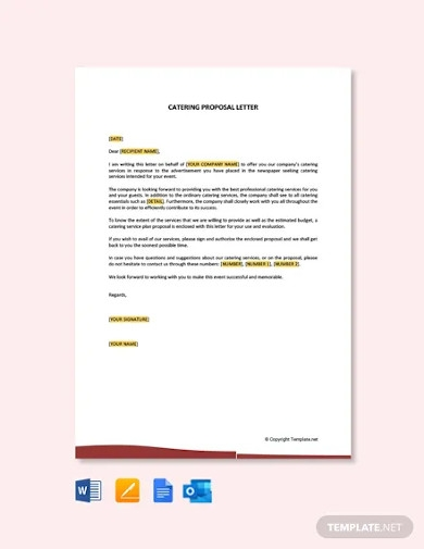 free catering proposal letter