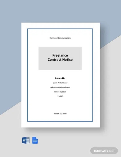 free freelance contract notice template
