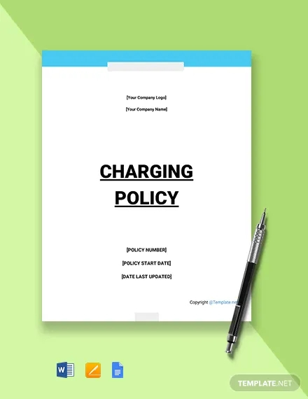 free it charging policy template