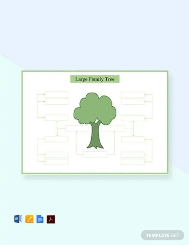 free large family tree template