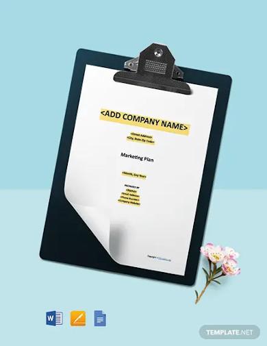 free modern construction marketing plan template