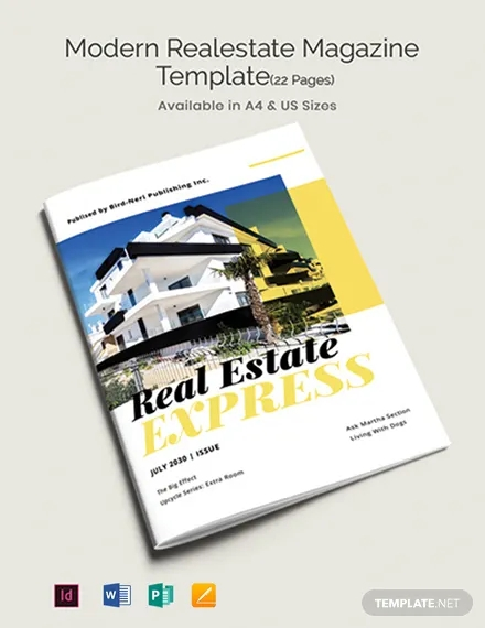 free modern real estate magazine template