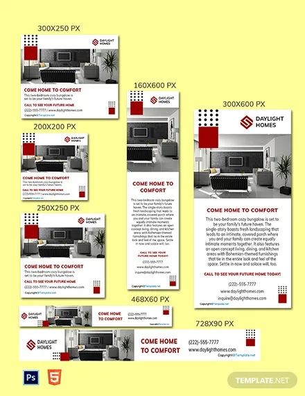 free real estate web ads template