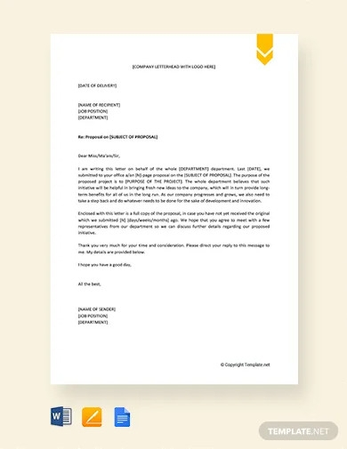 free request letter for approval of proposal