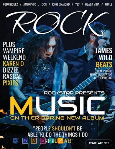 free rock music magazine cover