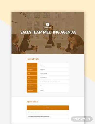 free sales team meeting agenda
