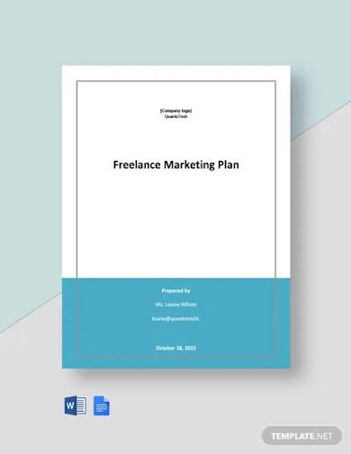 free sample freelance marketing plan template