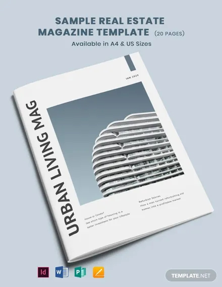free sample real estate magazine template